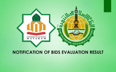 NOTIFICATION OF BIDS EVALUATION RESULT